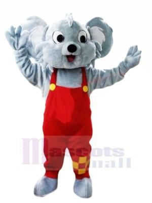 Heureux Gris Koala Mascotte Les costumes Pas cher