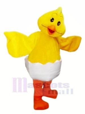 Costume De Mascotte De Poulet D'Oeuf Jaune Souriant Animal