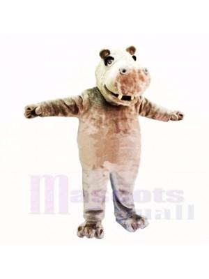 Souriant Amical Poids léger Hippopotame Costumes De Mascotte Dessin animé
