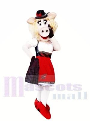 À la mode Porc Costumes De Mascotte