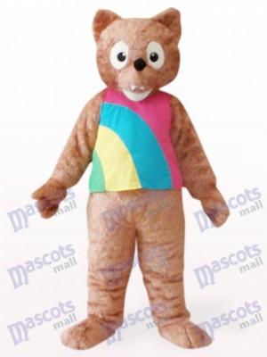 Costume de mascotte de loup brun