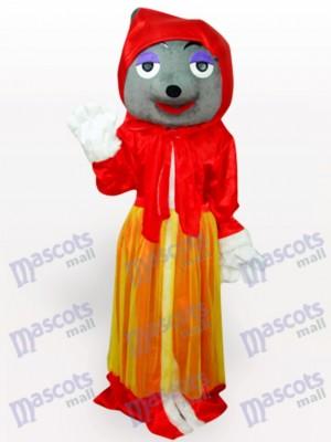 Déguisement de mascotte anime adulte rouge loup