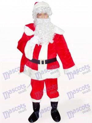 Costume de mascotte de Santa Noël Noël rouge