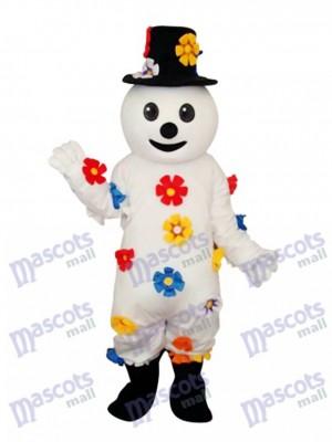 Fleur Bonhomme de neige Mascotte Costume adulte Noël  Xmas