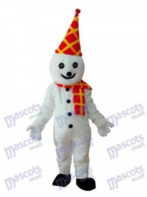 Bonhomme de neige en anniversaire coloré Chapeau Mascotte Costume adulte Noël
