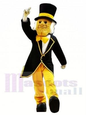 Gentilhomme avec chapeau Costume de mascotte