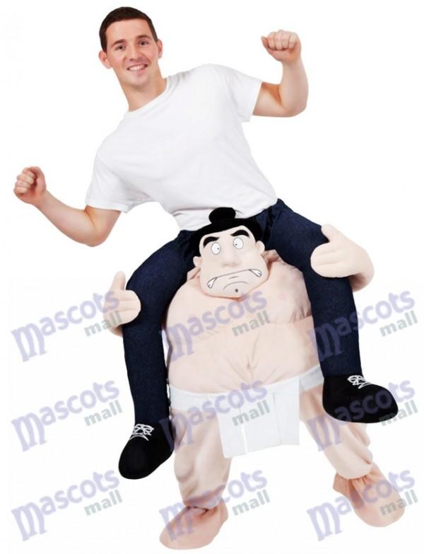 Portez-moi le costume de lutteur de costume de sumo japonais sur le costume de mascotte de tirelire