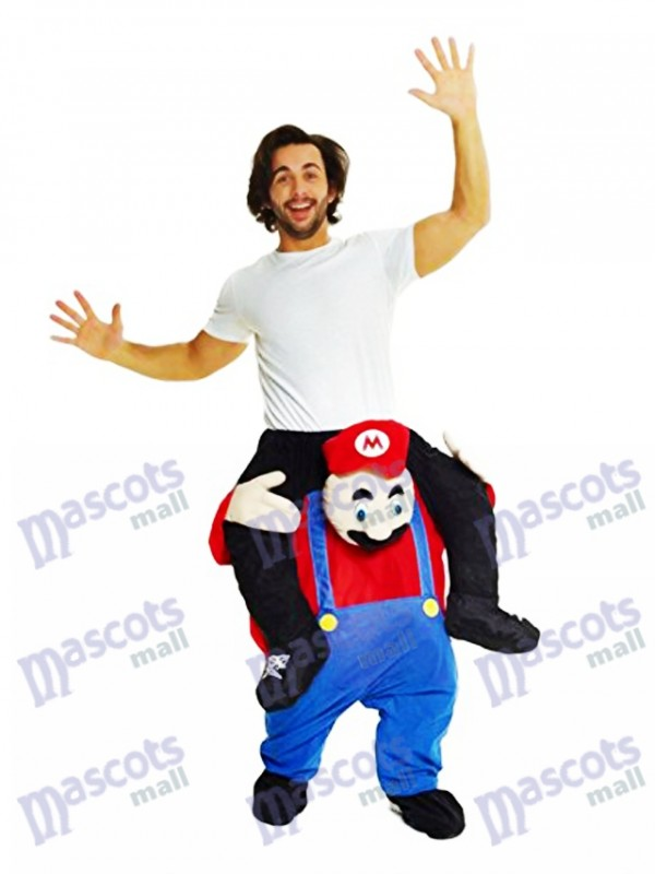 Piggyback Super Mario Bros Carry Me Ride Mario Costume de mascotte
