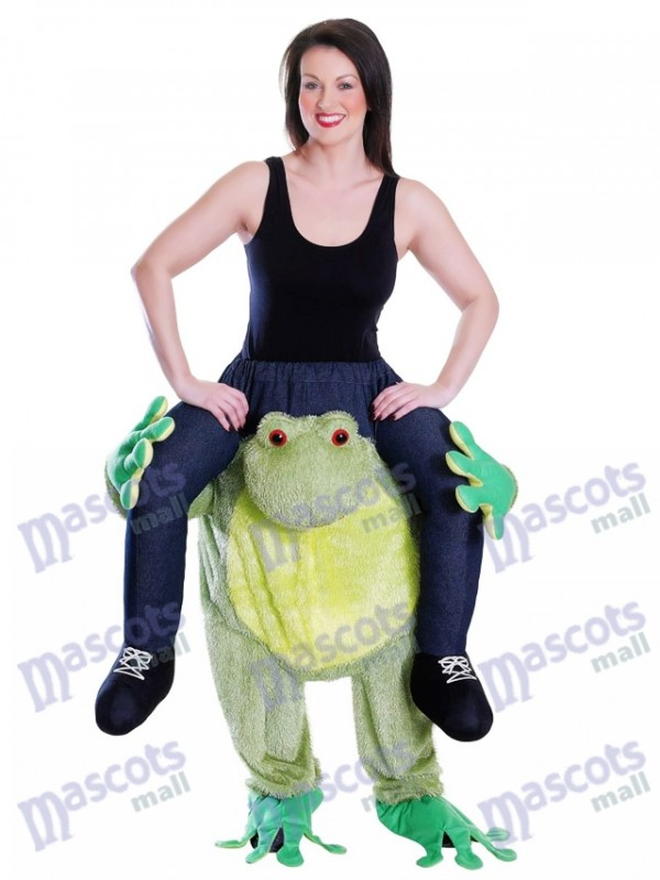 Piggy Back Frog Carry Me Costume Mascotte Ride Sur Grenouille Déguisements