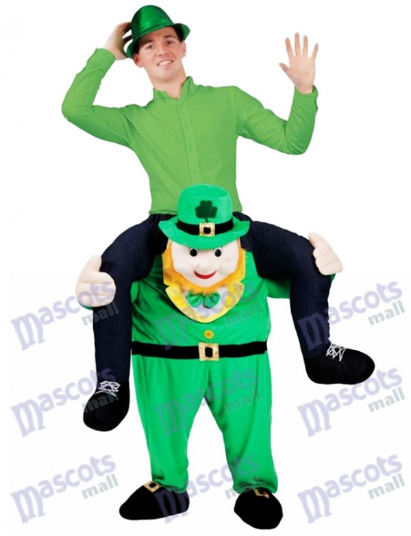 Piggy Retour Costume Irlandais Carry Me Leprechaun Mascotte Costume St Patricks Day Déguisements
