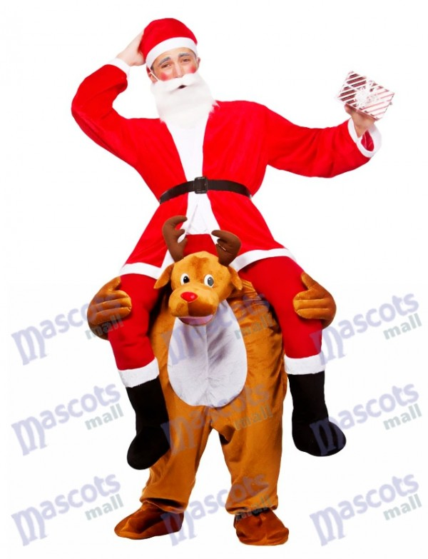 Reindeer Carry Me Costume mascotte renne Carry Santa Claus Christmas Déguisement
