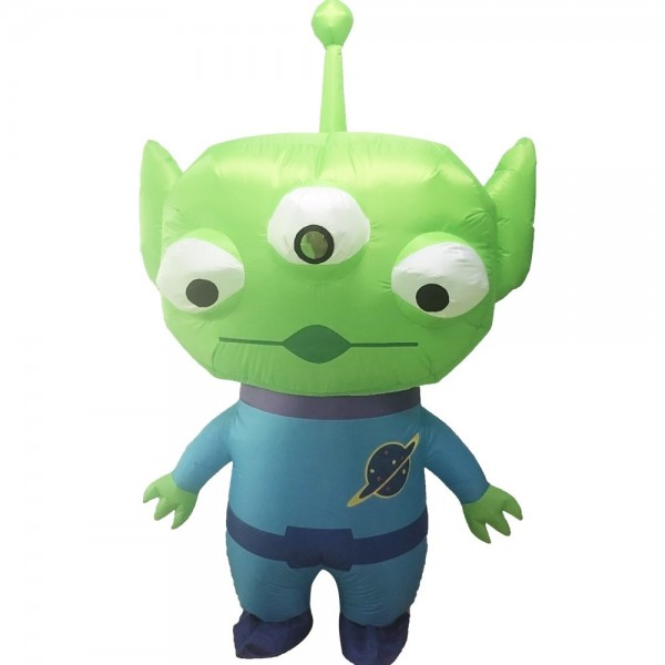 Trois yeux Extraterrestre Gonflable Costume Halloween Noël Costume pour Adulte