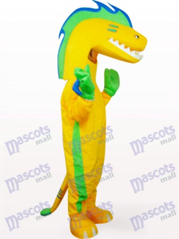 Déguisement de mascotte d'anguille en vêtements jaunes