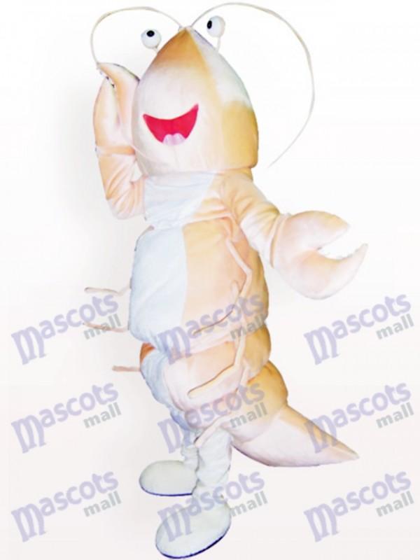 Costume de mascotte de dessin animé de crevette