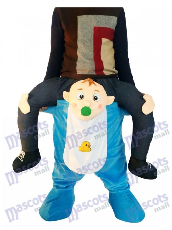 Piggyback Baby Carry Me monter sur le costume de mascotte infantile