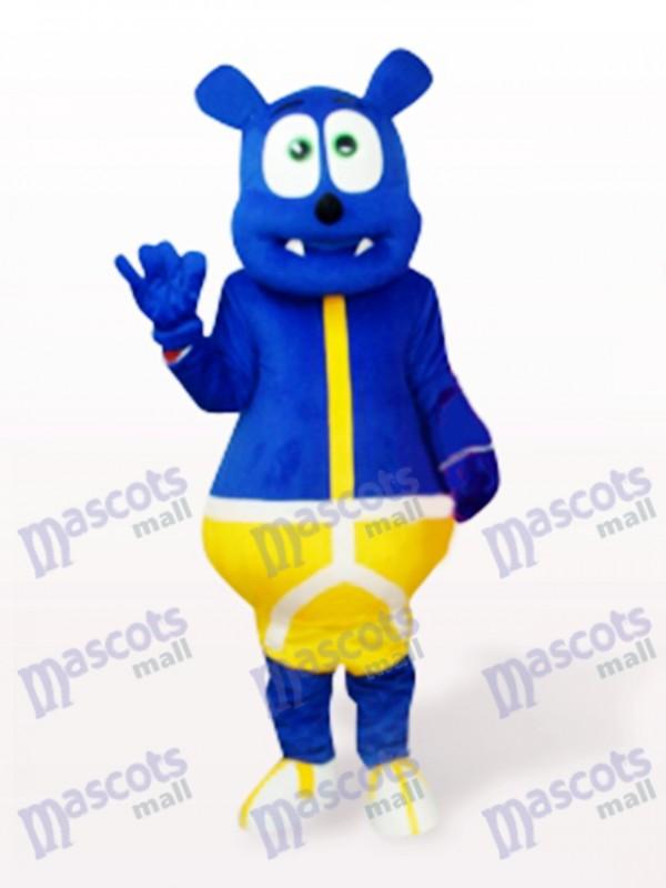 Déguisement de mascotte de monstre bleu ours