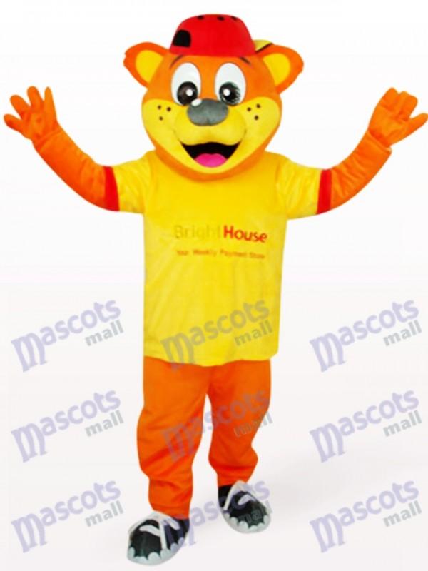 Ours de Pipi jaune mâle Costume de mascotte animale