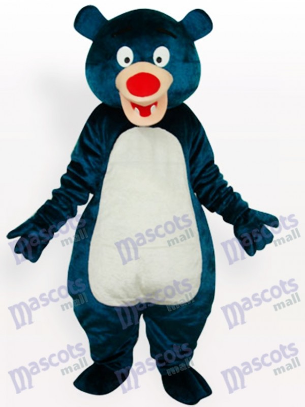 Costume de mascotte d'animal adulte bleu ours