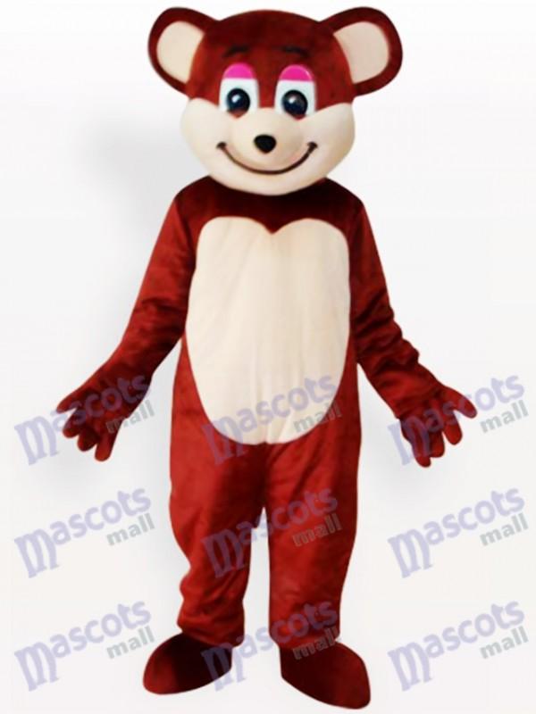 Costume drôle de mascotte d'ours brun