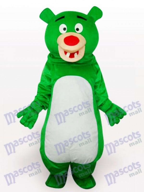 Costume drôle mascotte de l'ours vert anime