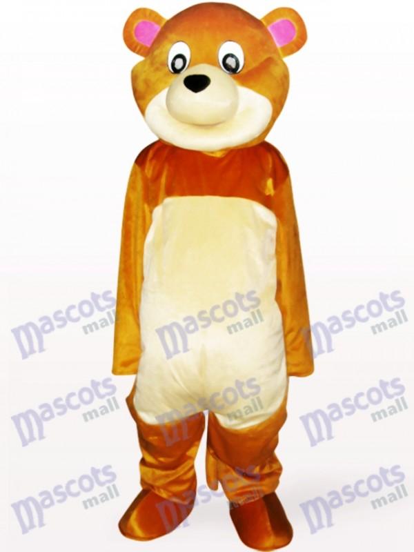 Costume de mascotte adulte d'ours de bouche ronde