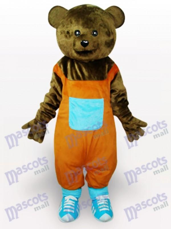 Costume de mascotte adulte brun Teddy Animal