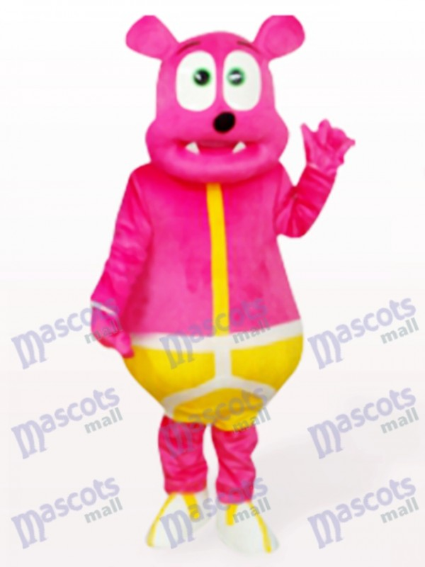 Costume de mascotte adulte animal ours rose monstre