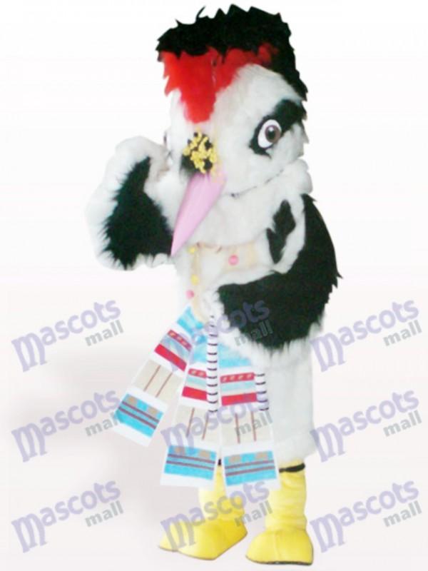 Costume de mascotte adulte oiseau blanc cheveux oiseaux