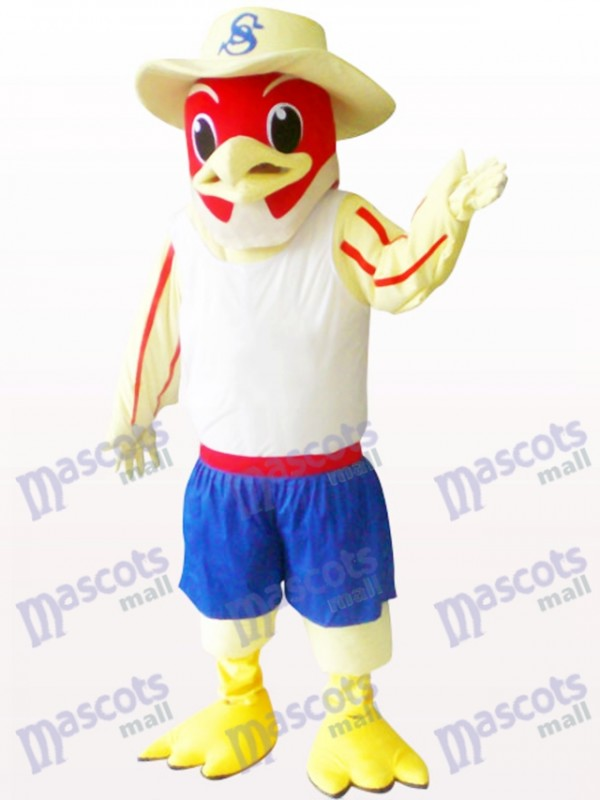 Oiseau rouge Animal Costume de mascotte adulte