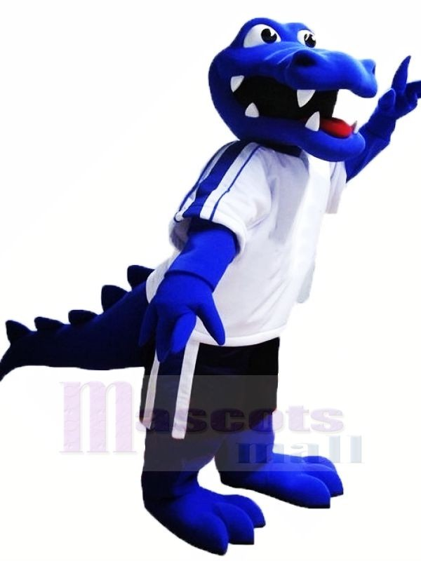 Bleu Alligator Mascotte Les costumes Animal