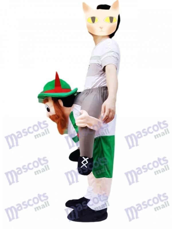 98396df6321 Piggy Back Carry Me Vert Bavarois Bière Guy Ride Mascotte Costume  Déguisements