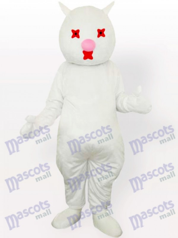 Costume de mascotte adulte chat blanc