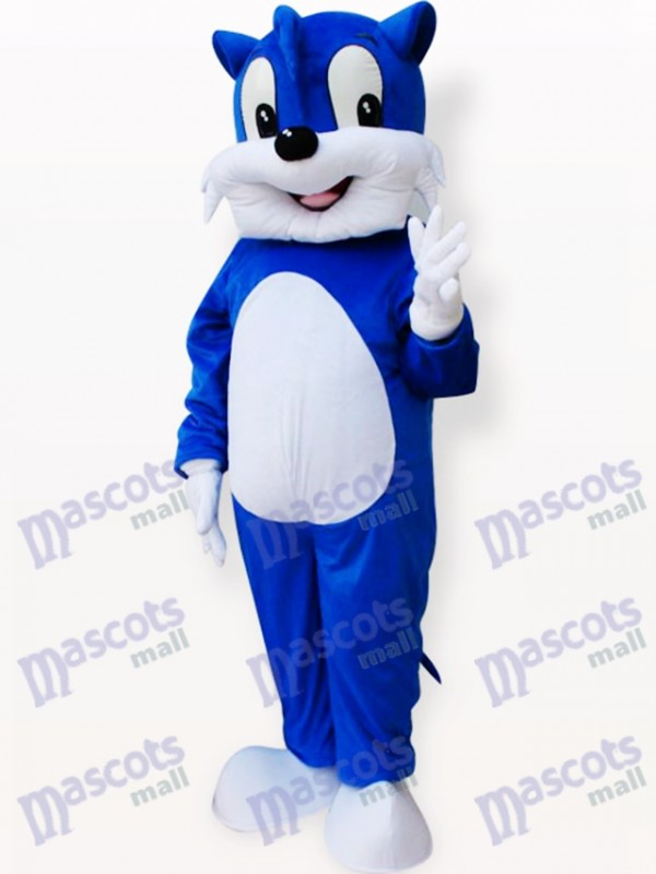 Costume de mascotte adulte chat bleu animal