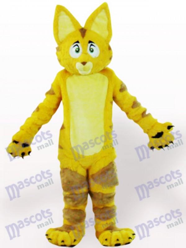 Costume de mascotte adulte animal chat jaune