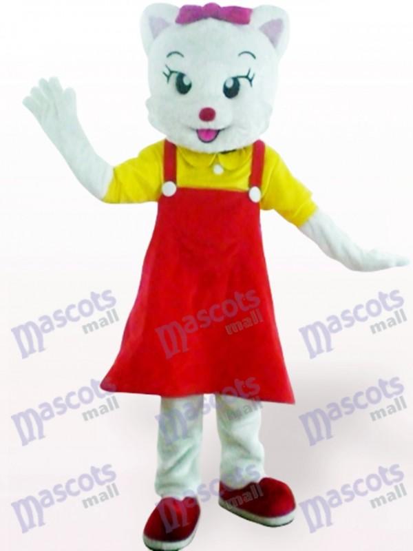 Costume de mascotte adulte chat femelle rouge animaux