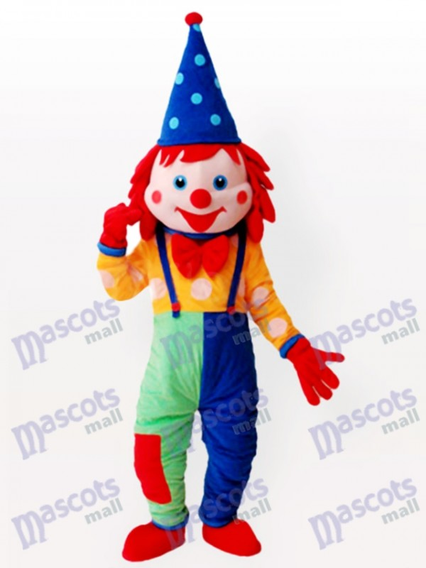 Costume drôle de mascotte de clown adulte