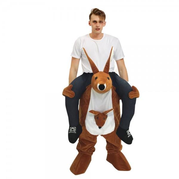 marron Kangourou Porter moi Balade sur Fantaisie Robe Costume pour Adulte/enfant