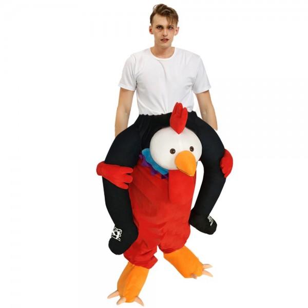 rouge poulet Porter moi Balade sur Halloween Noël Costume pour Adulte