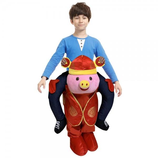 Mammon Porc Porter moi Balade sur Halloween Noël Costume pour Enfant