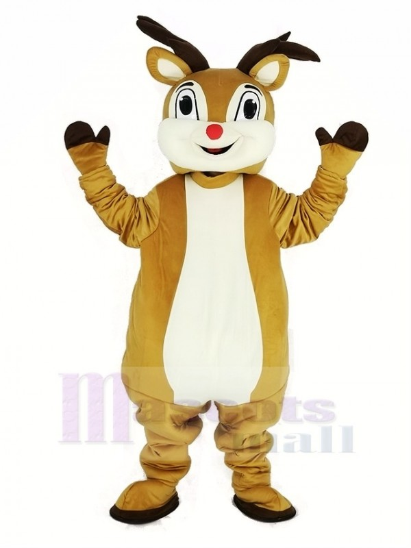 rouge Nez Rudolph Renne Mascotte Costume Animal