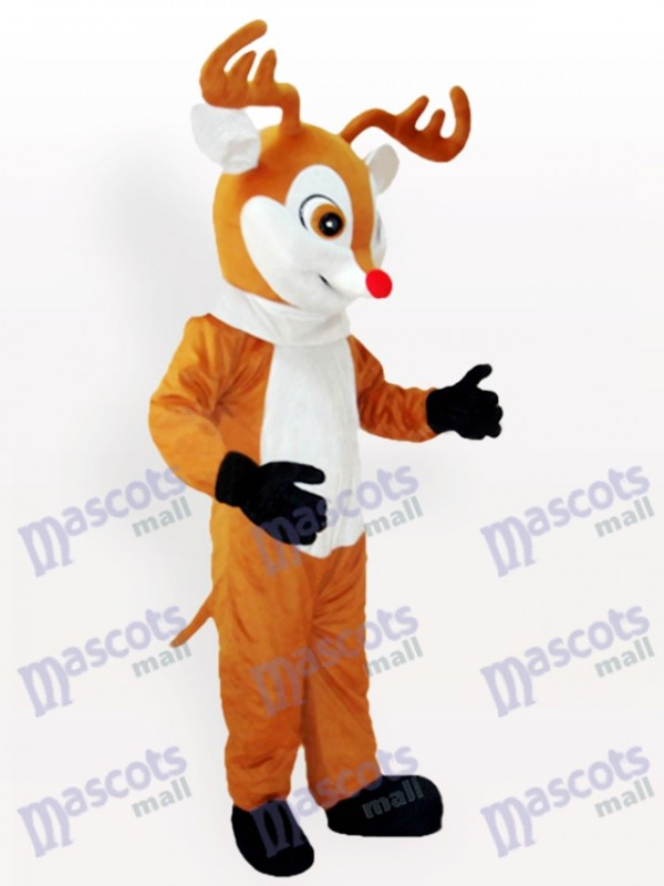 Costume de mascotte adulte renne jaune