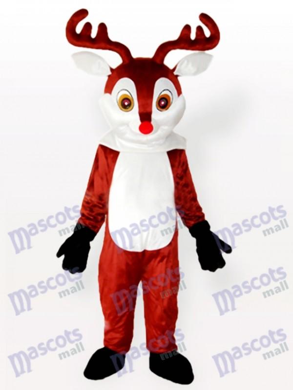 Costume de mascotte adulte brun petit renne