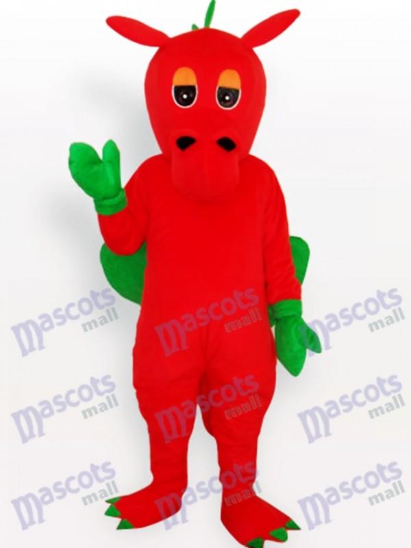Costume de mascotte adulte animal dinosaure rouge