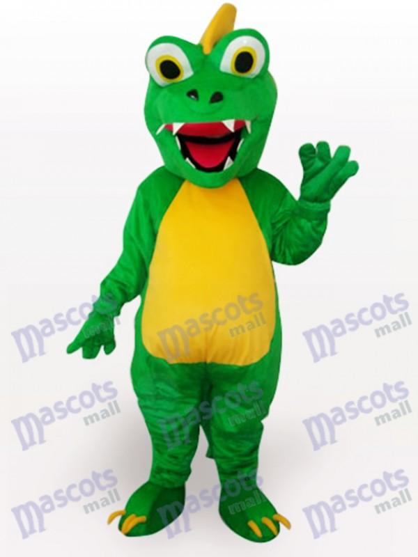 Costume drôle de mascotte adulte vert dinosaure animaux