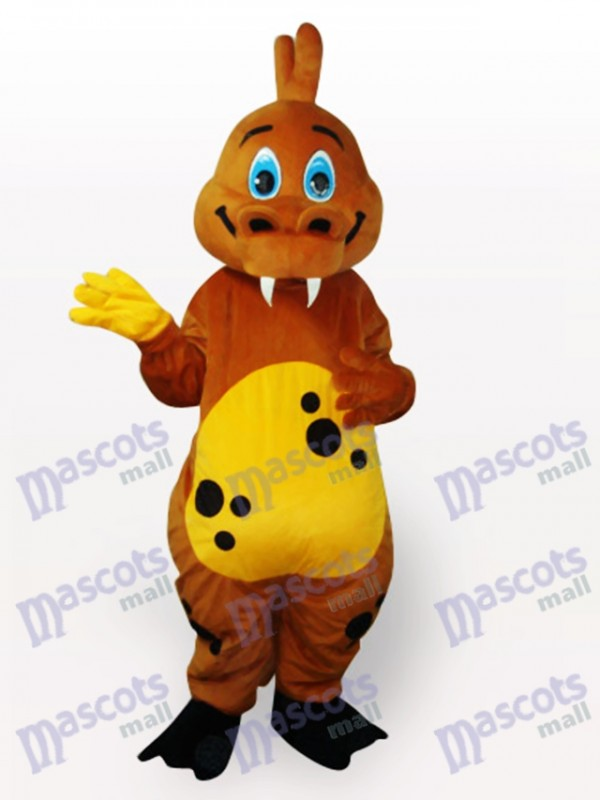 Costume de mascotte adulte animal dinosaure or