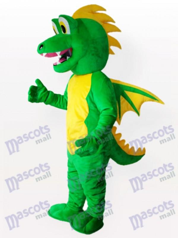 Costume de mascotte adulte vert stégosaure