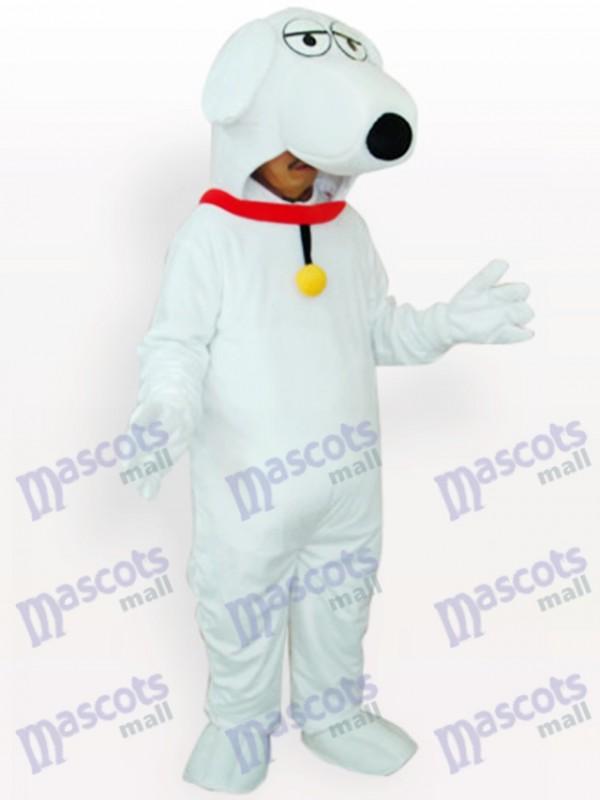 Costume de mascotte adulte chien blanc animal