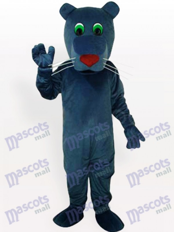 Costume de mascotte adulte chien noir bouche