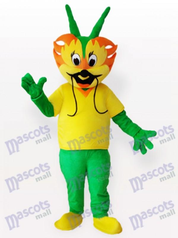 Costume de mascotte adulte dragon cyan