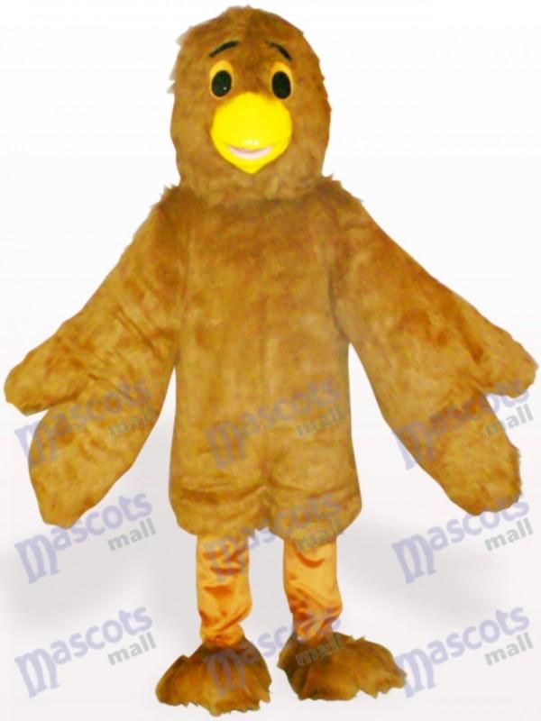 Costume de mascotte adulte aigle marron